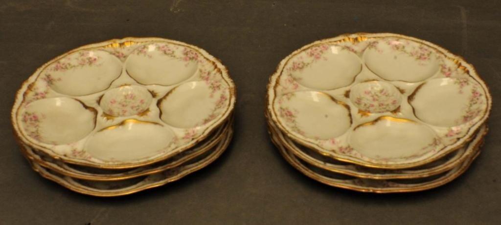 3: Six Haviland Limoges Oyster Plates