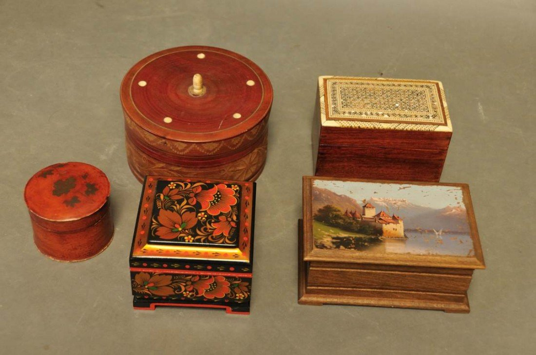 4: Collection of Five Boxes