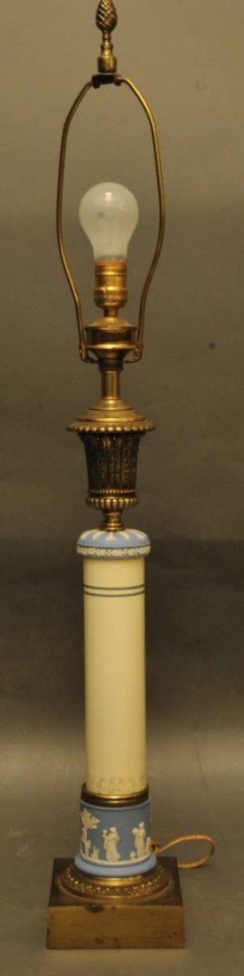 6: Wedgwood Mounted Columnar Lamp Base