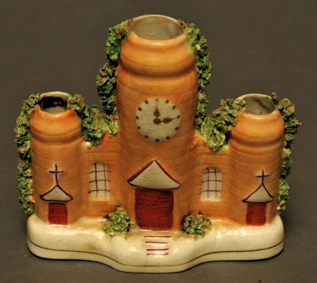 7: Staffordshire Church Spill Vase