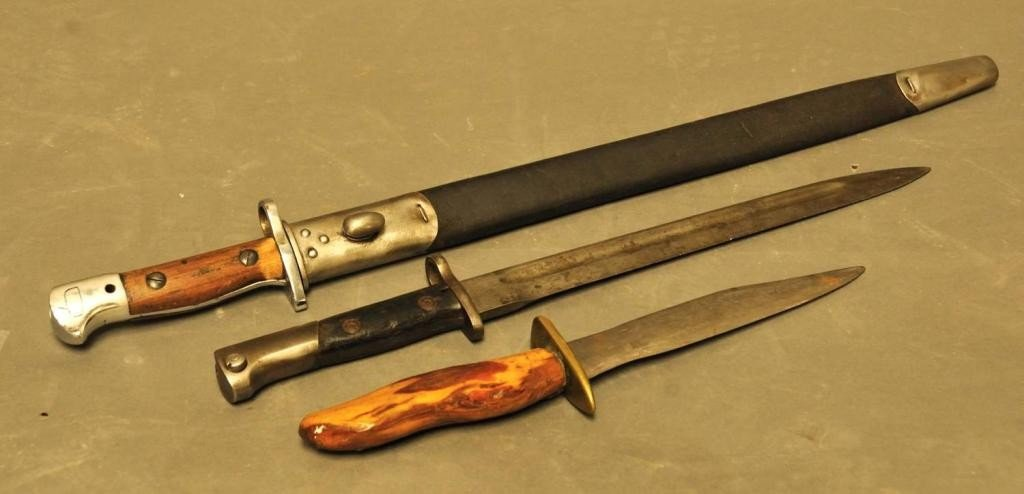 17: Two Bayonets, One Hand Made Knife