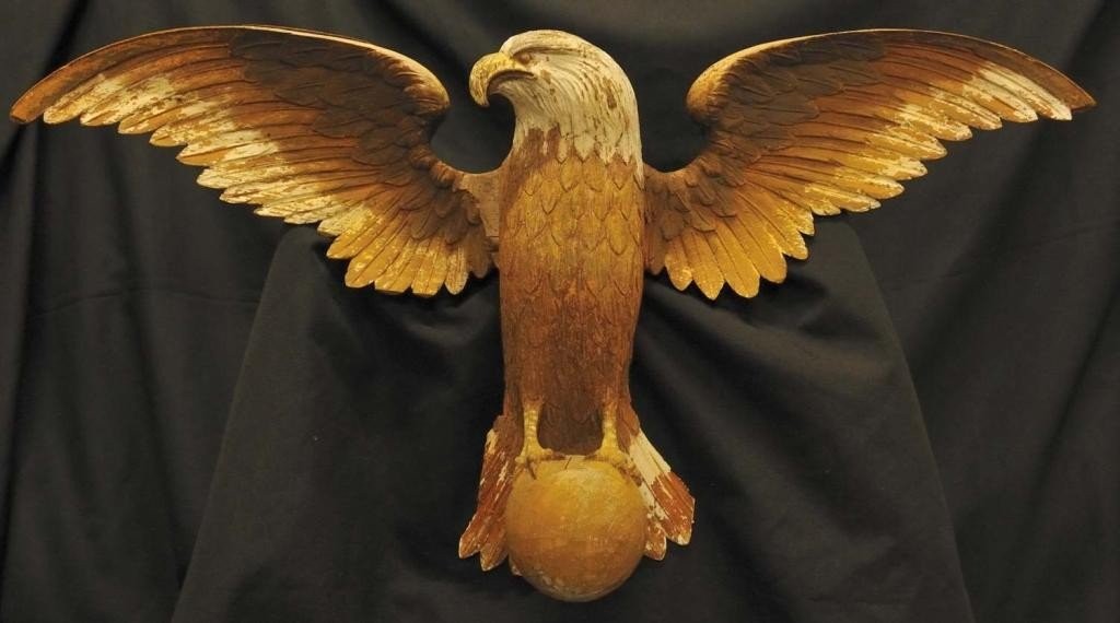 197: Wood Carved American Eagle