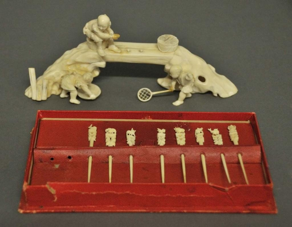 7: Signed Ivory Carving & Ivory Picks