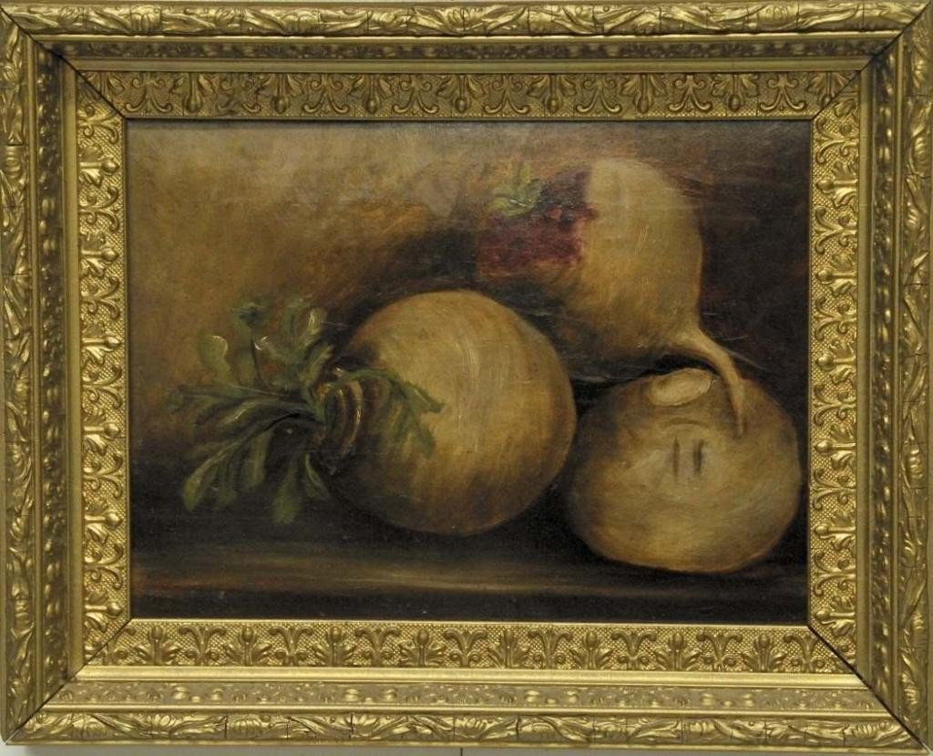 22: American School, Still Life with Turnips
