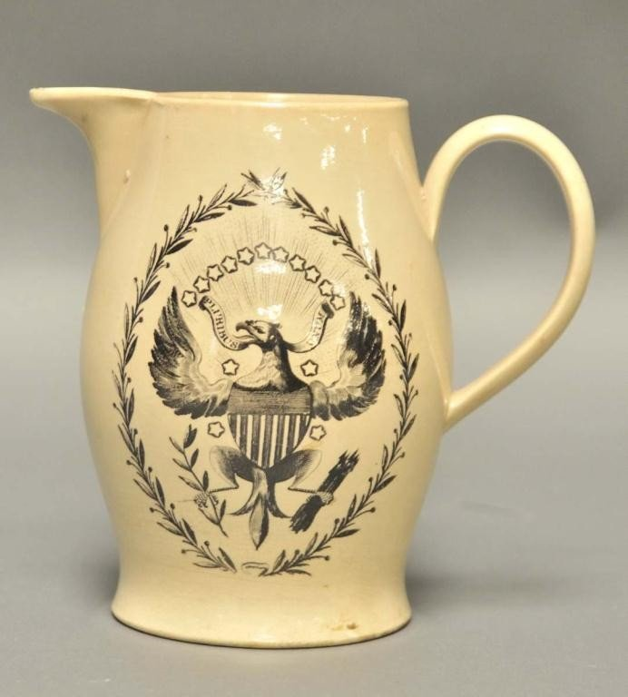 137: Excellent Liverpool Creamware Pitcher or Jug