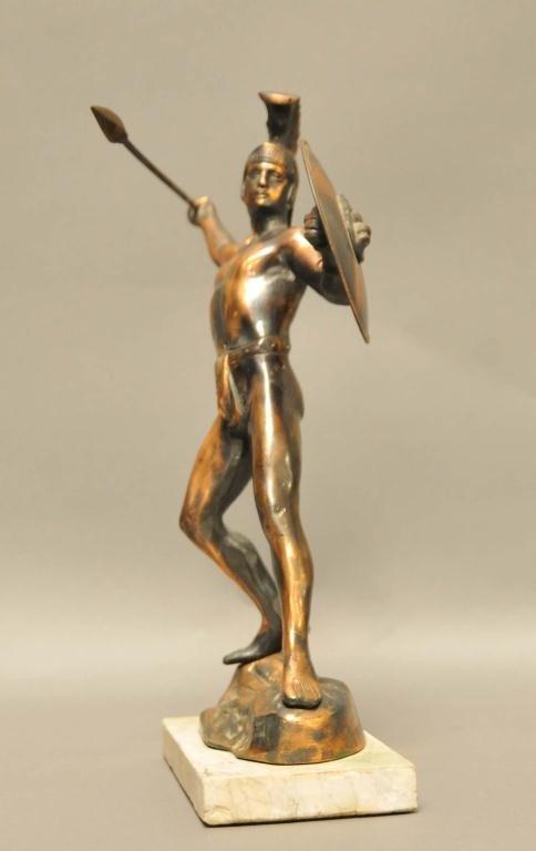 307: Bronze Statue of Spartan Warrior - 2