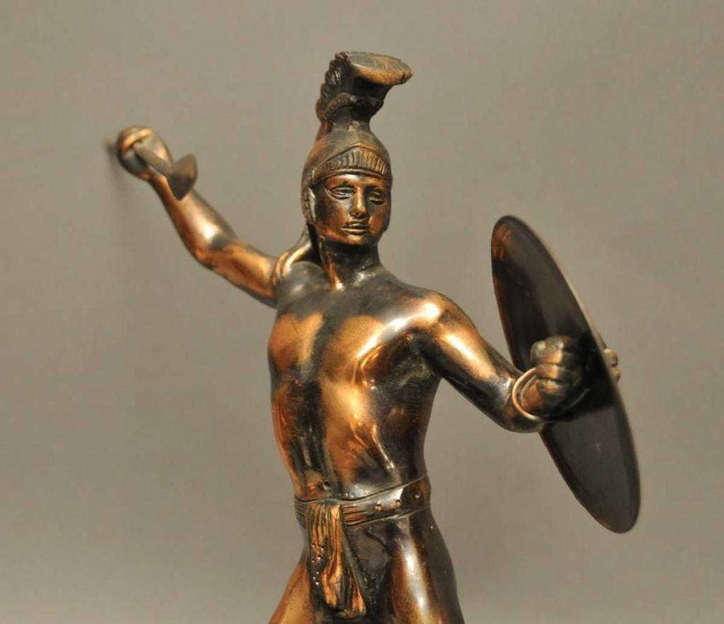 307: Bronze Statue of Spartan Warrior - 3