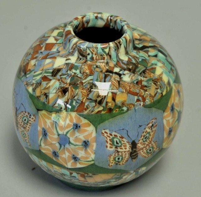 16: Vallauris, France, Gerbino Pottery Vase