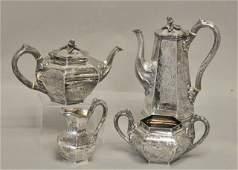 213: Four Piece Irish Silver Tea & Coffee Service