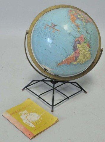 414: c. 1952 Replogle Globe w/ Booklet