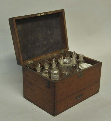 1: American Mahogany Apothecary Fitted Case