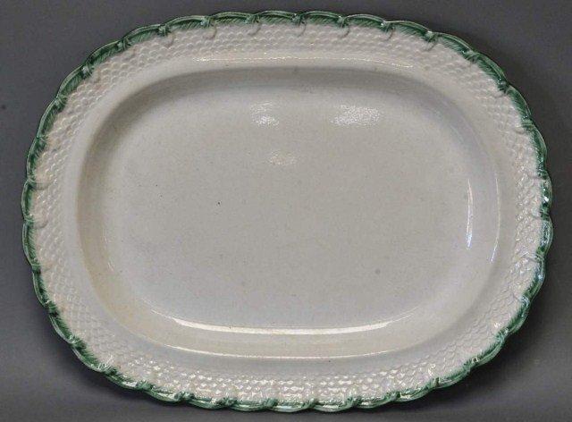 2: Green Feather Edge Platter