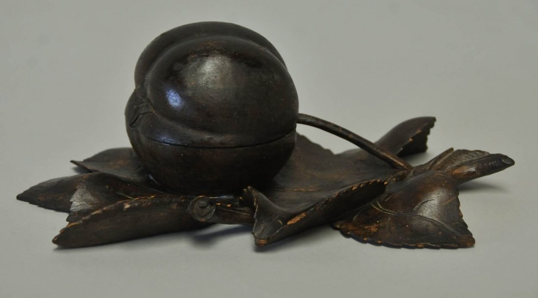 7: Carved Fruit Inkwell