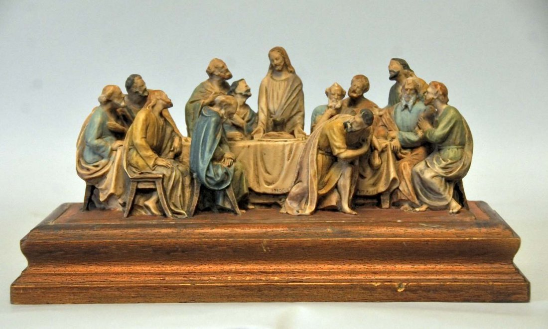 "9: Italian Sculptural Group ""The Last Supper"""