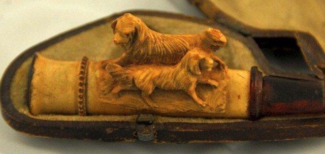 10: Carved Meerschaum Cigar Holder