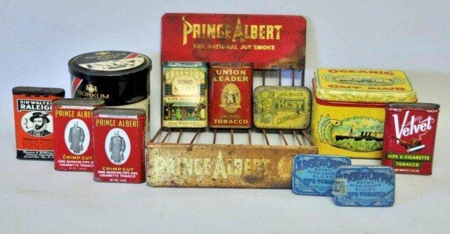 12: Tobacco Tins & Prince Albert Display