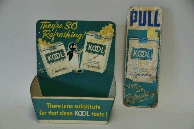 13: Kool Cigarettes Adv. Door Pull Sign & Display