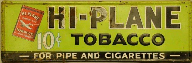 14: Hi-Plane Tobacco Embossed Tin Sign