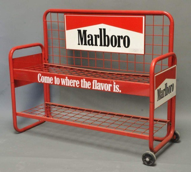 15: Metal Marlboro Cigarettes Advertising Stand
