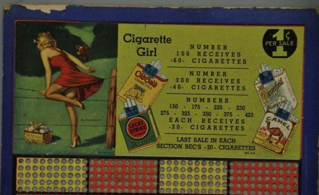 "16: Cigarette Girl & ""Odd Penny"" Punch Boards - 2"
