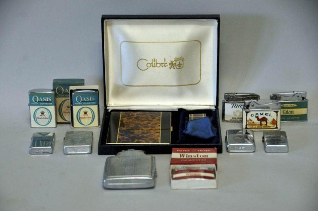 17: Collection of Cigarette Lighters & Cases
