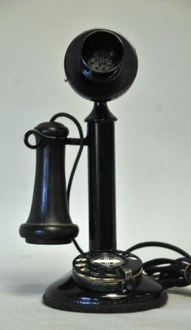 22: Desktop Candlestick Telephone w/ Rotary Dial