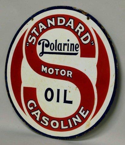 24: Standard Polarine Oil Porcelain Sign