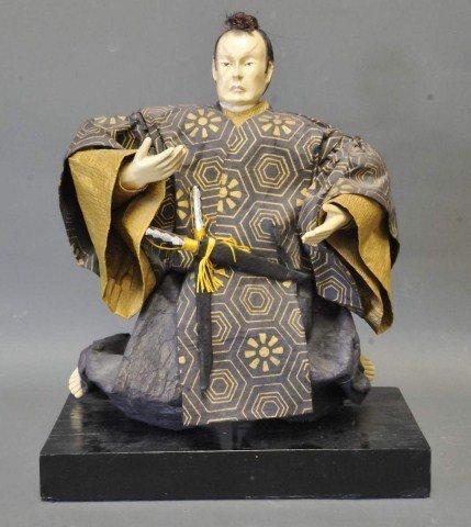 35: Japanese Papier Mache Samurai Figure