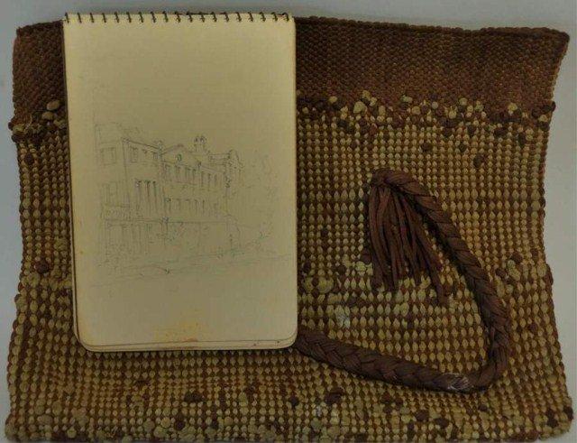 228: Elizabeth O'Neill Verner Sketchbook & Artist's Bag