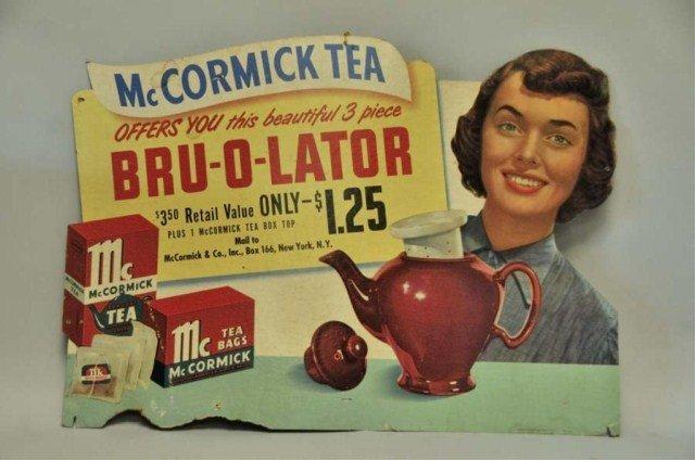 230: McCormick Tea Advertising Sign w/ Five Teapots - 2