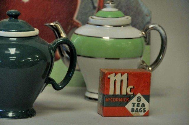230: McCormick Tea Advertising Sign w/ Five Teapots - 4