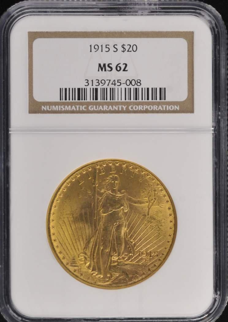 526: 1915  $20 Saint Gaudens Coin