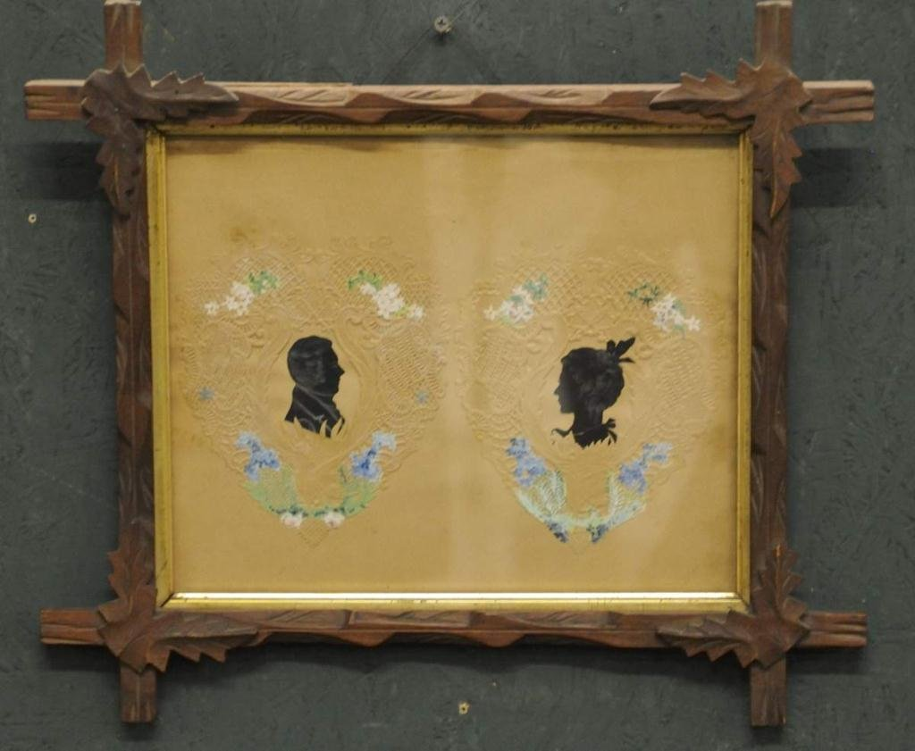 Early Framed Double Silhouette Valentine