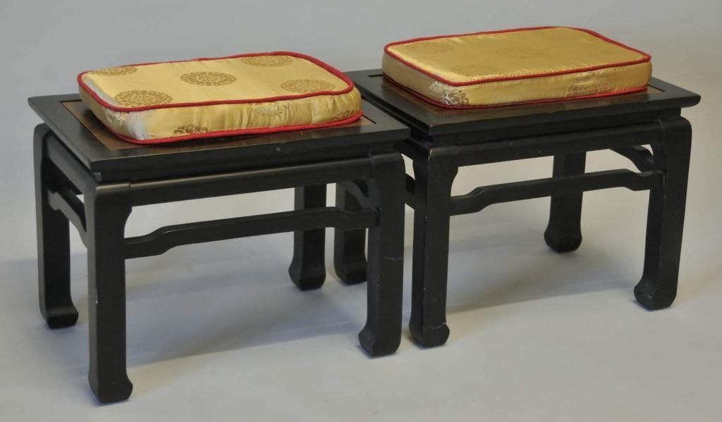 Pair of Chinese Style Stools or Benches