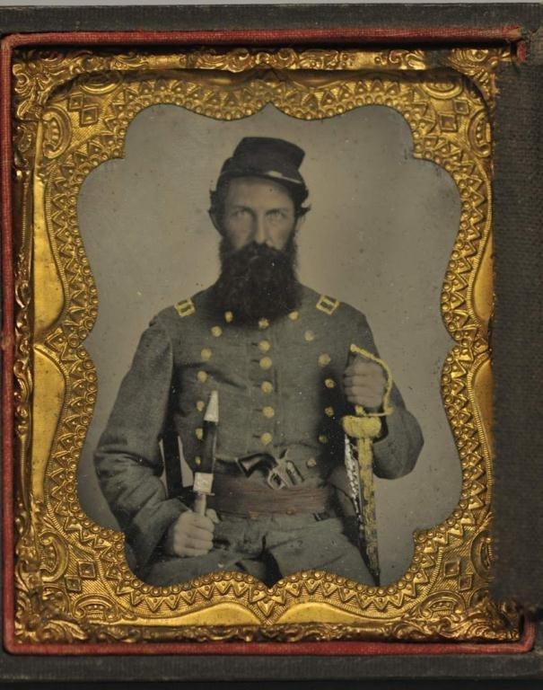 Armed Confederate Civil War Tintype