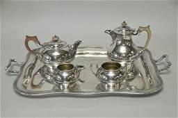 Elkington Silver Plate Tea Set Selfridge Tray