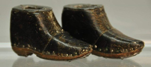 Pr. of Novelty Miniature Leather Boots
