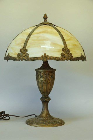 Miller Slag Glass Lamp, Dated 1919