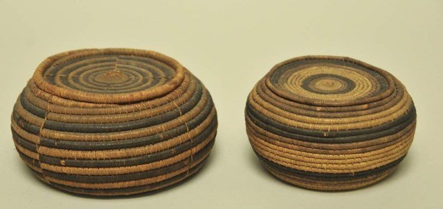 Two Northwest Coast Lidded Baskets