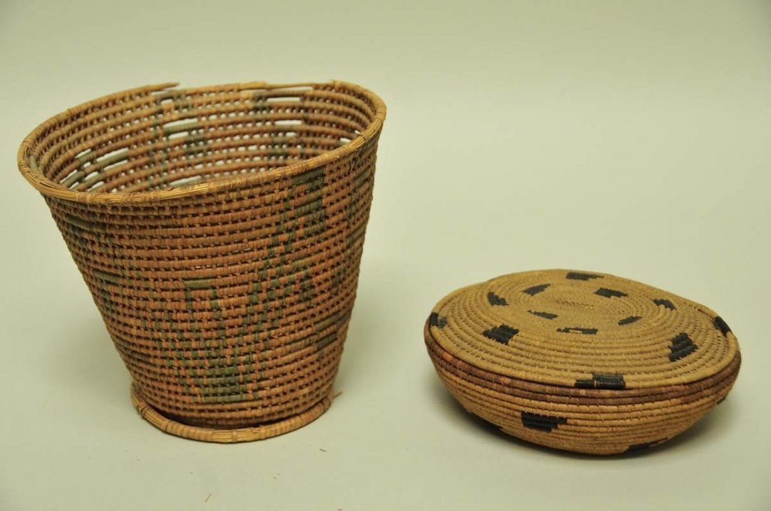 Two Northwest Coast Baskets