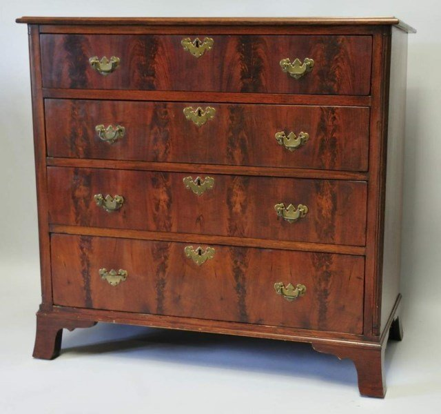 Fine c. 1790 North Carolina 4-Drawer Chest