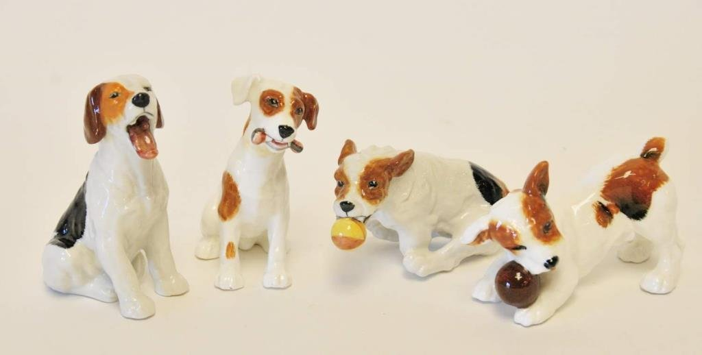 Four Royal Doulton Dog Figurines