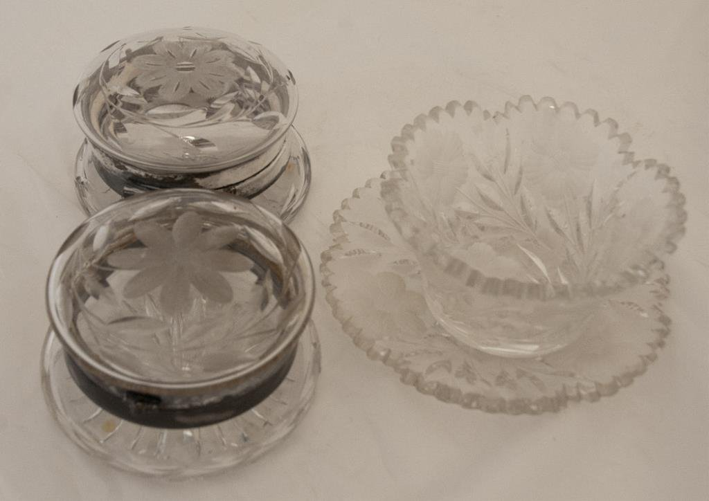 4 Pcs. American Brilliant Cut Glass