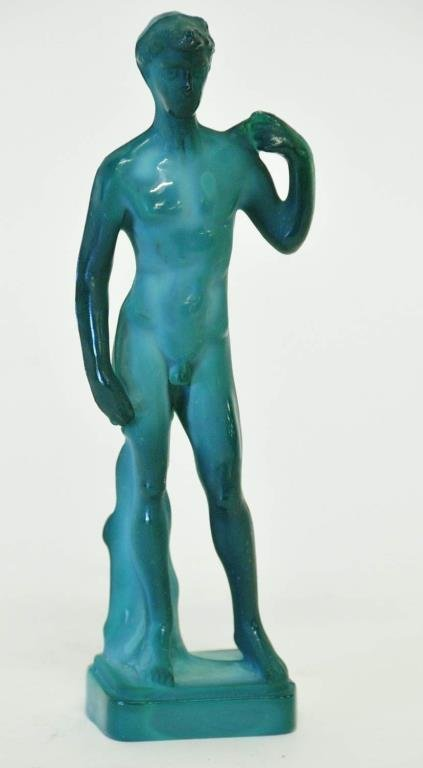 Moser Malachite Nude Male Figure