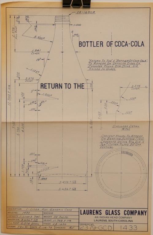 Coca-Cola Bottle Blueprint