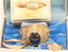 10kt & 14kt Gold Vintage Rings