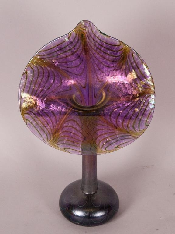 Robert Held Jack-in-the-Pulpit Art Glass Vase
