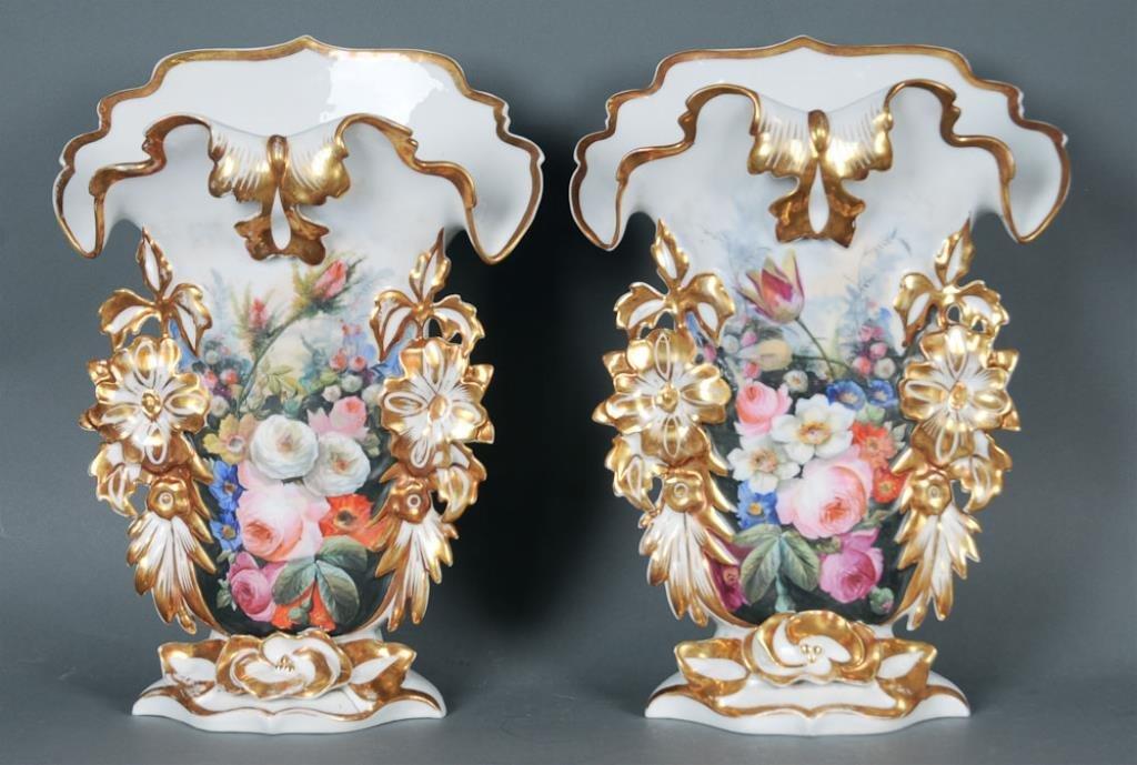 Pr. Large Old Paris Vases