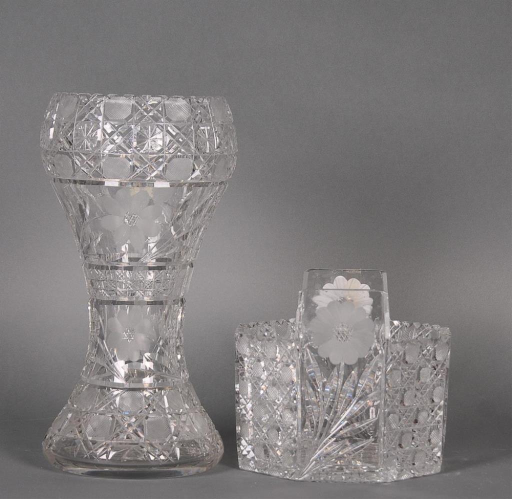 2 Pcs. Am. Brilliant Cut Glass