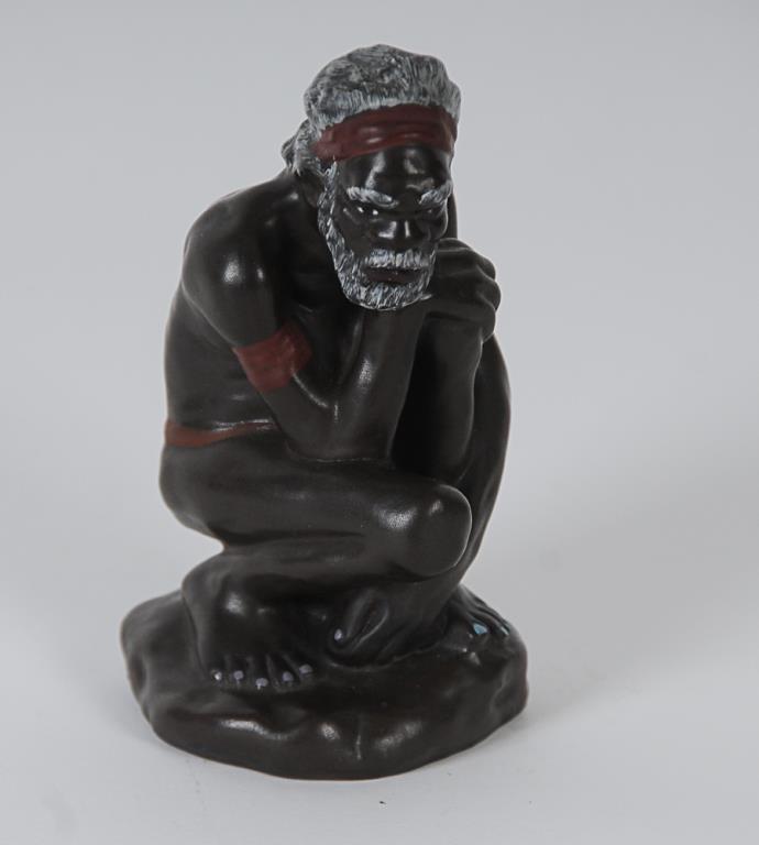 Darbyshire Ceramic Aboriginal Man Darbyshire figure of